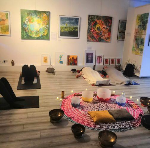 Sound Bath at the Amina Malik Gallery by Sana Holistic